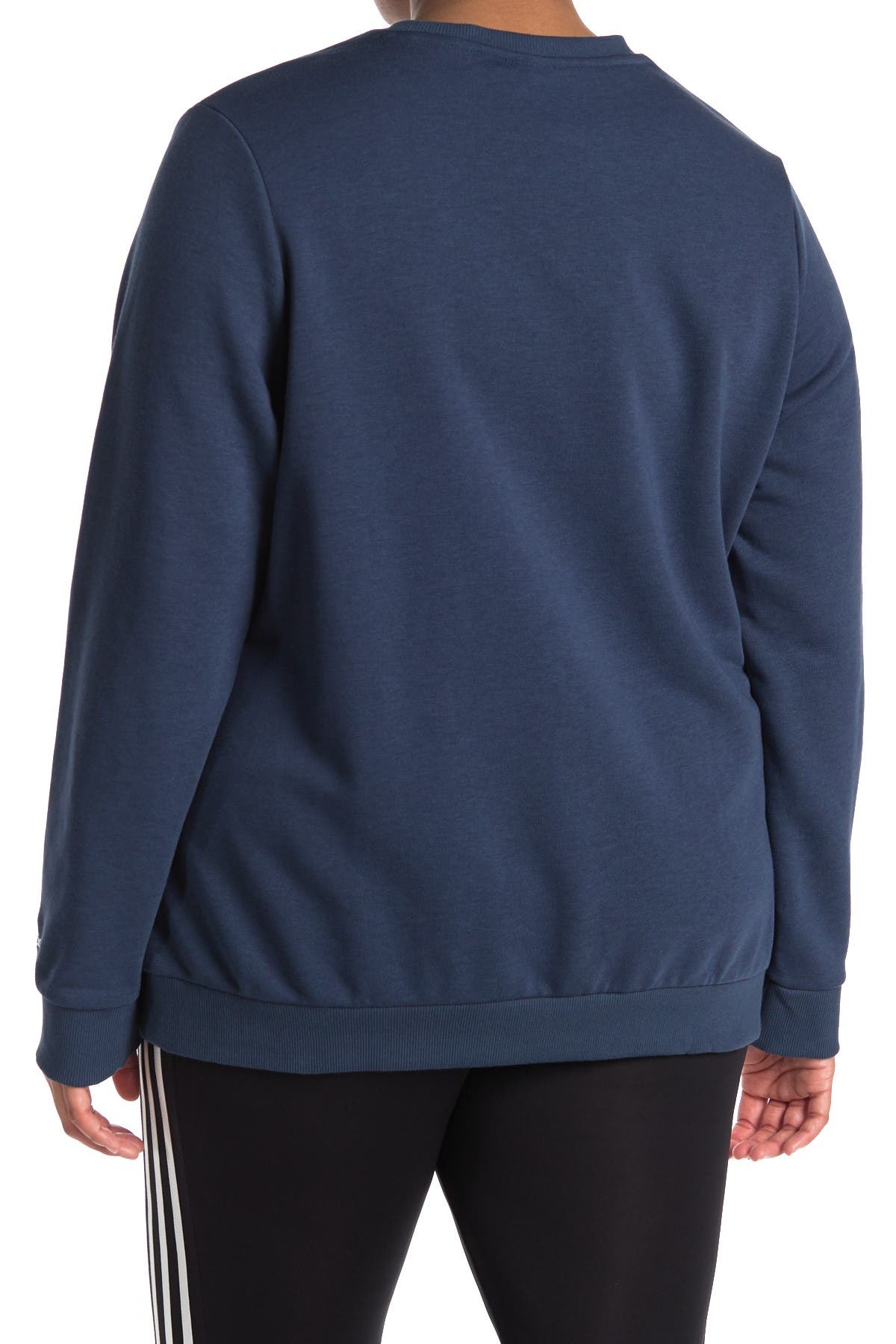 Image of adidas Linear Logo Crew Neck Pullover