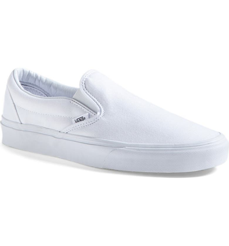 VANS Classic Slip-On, Main, color, TRUE WHITE