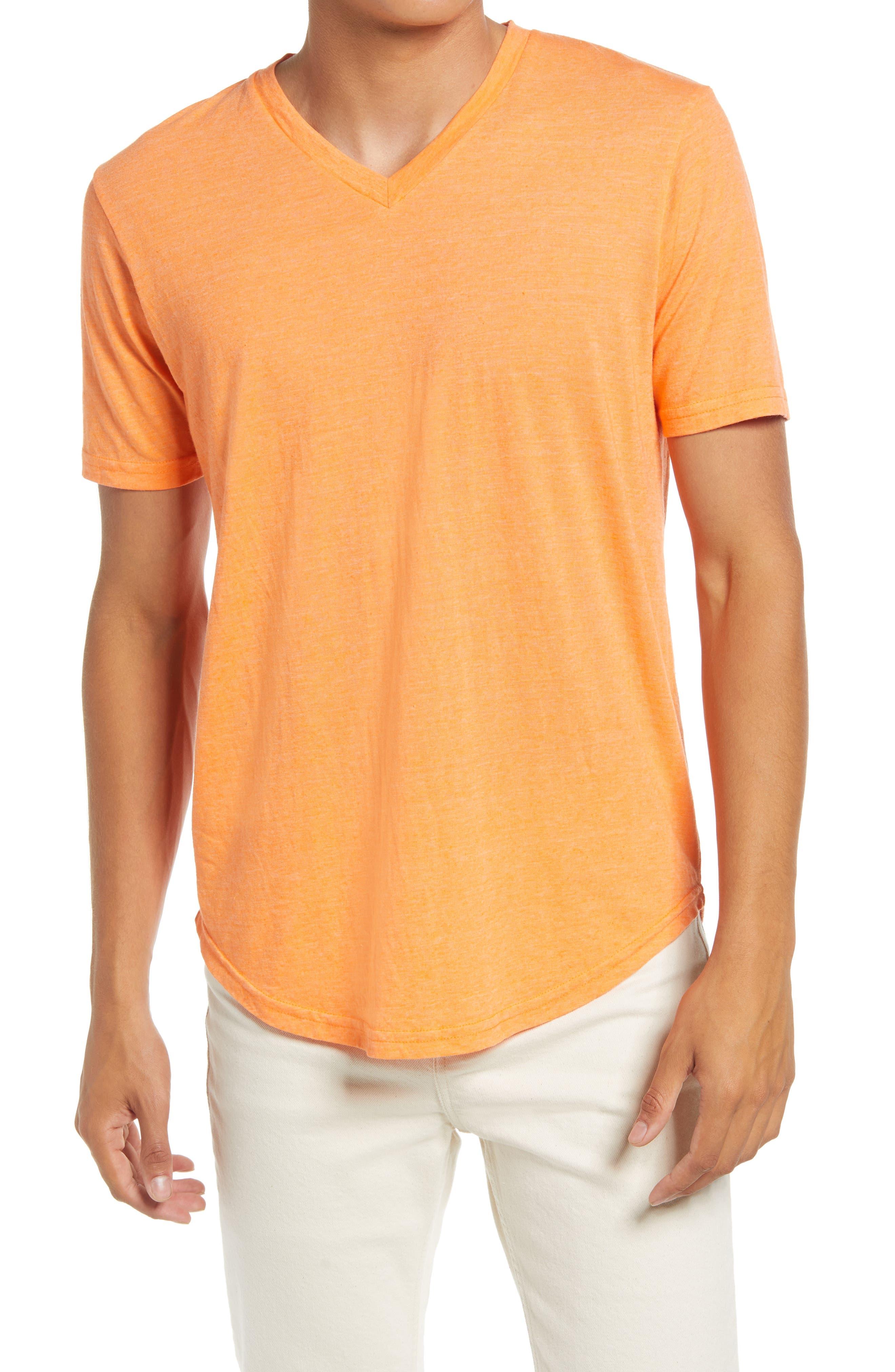 Triblend Scallop V-Neck T-Shirt