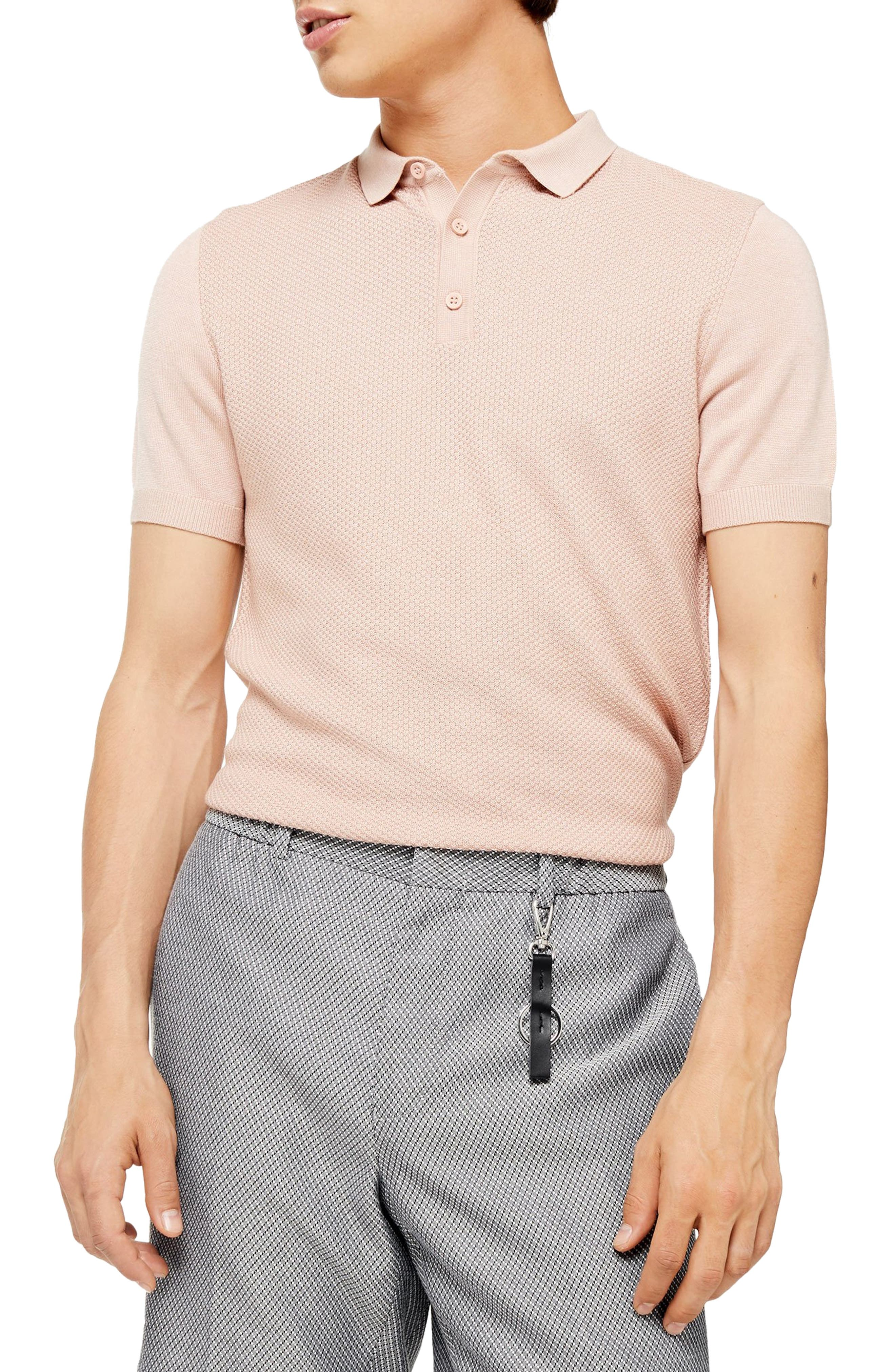 Vintage Shirts – Mens – Retro Shirts Mens Topman Classic Sweater Polo Shirt Size Small - Pink $45.00 AT vintagedancer.com