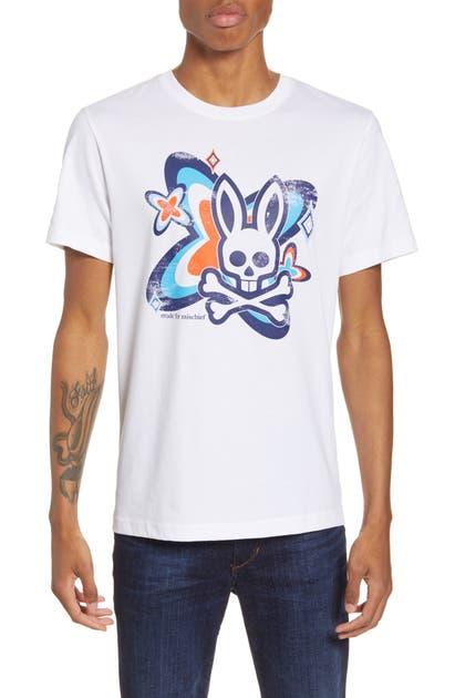 Psycho Bunny T-shirts PURDY GRAPHIC T-SHIRT