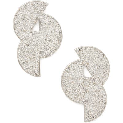 Kate Spade New York Mod Scallop Pave Statement Stud Earrings