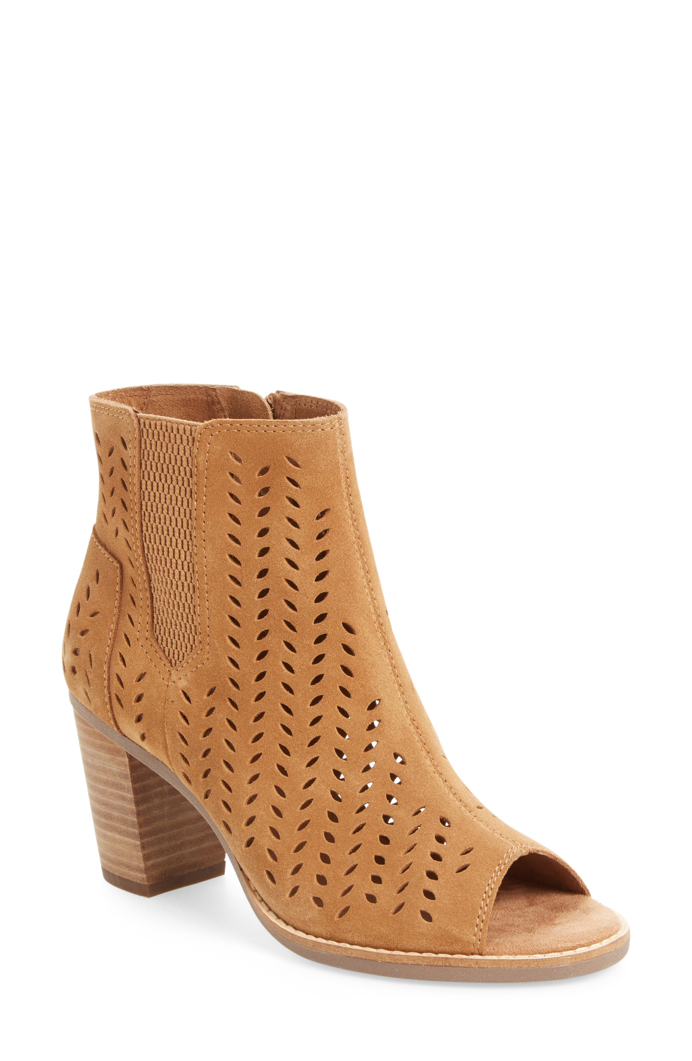 ,                             Majorca Perforated Suede Bootie,                             Main thumbnail 9, color,                             210