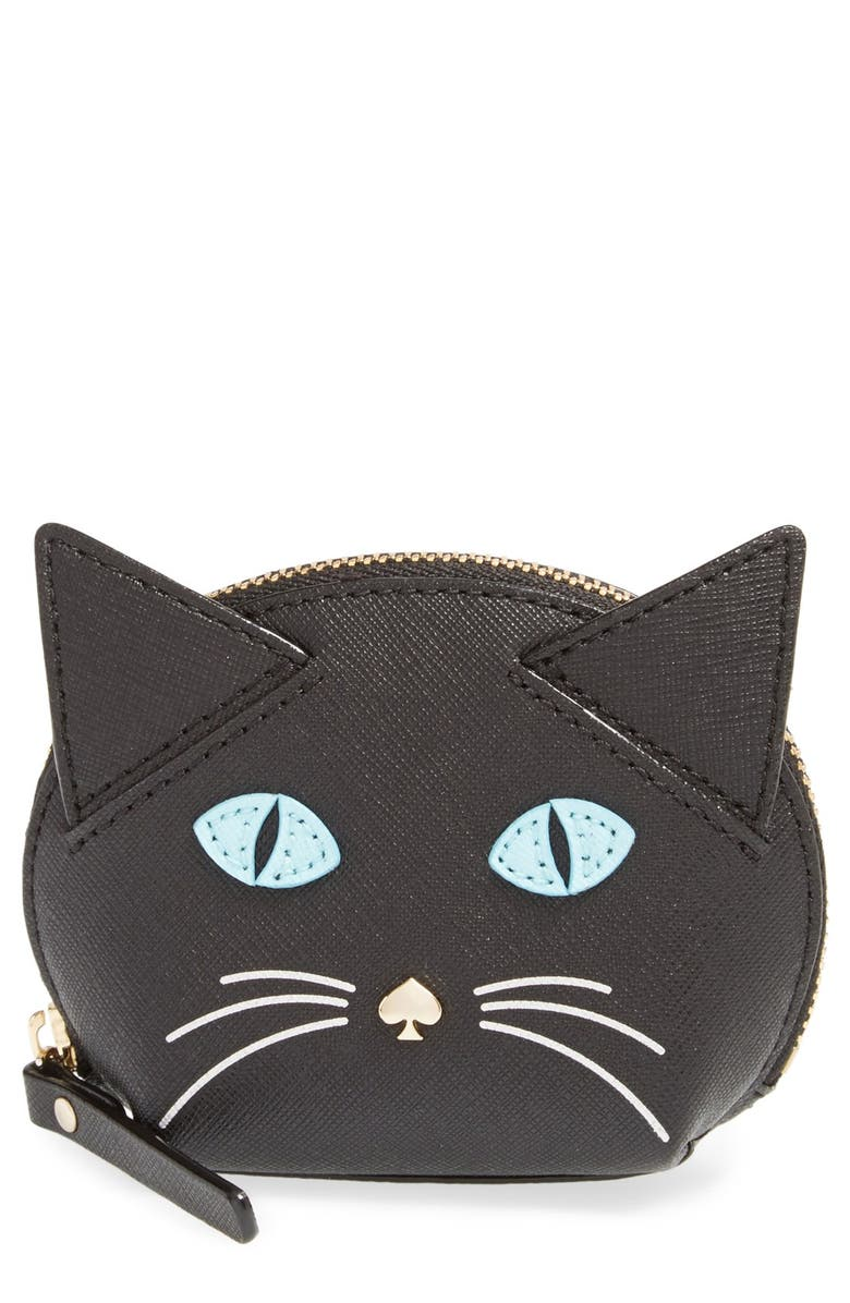 d0441fc8a805 kate spade new york 'cat's meow' cat coin purse | Nordstrom
