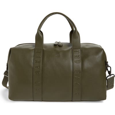 Ted Baker London Hungar Faux Leather Duffle Bag - Green