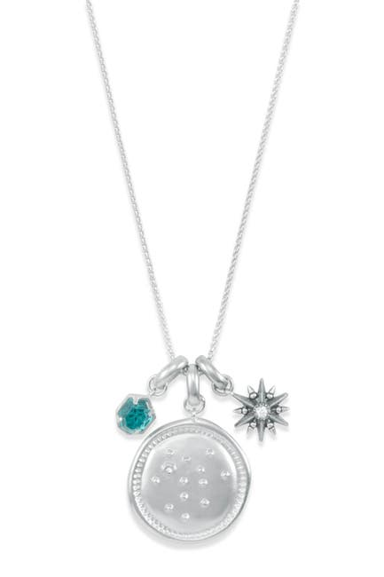 Image of Kendra Scott Rhodium Plated Sagittarius Charm Necklace