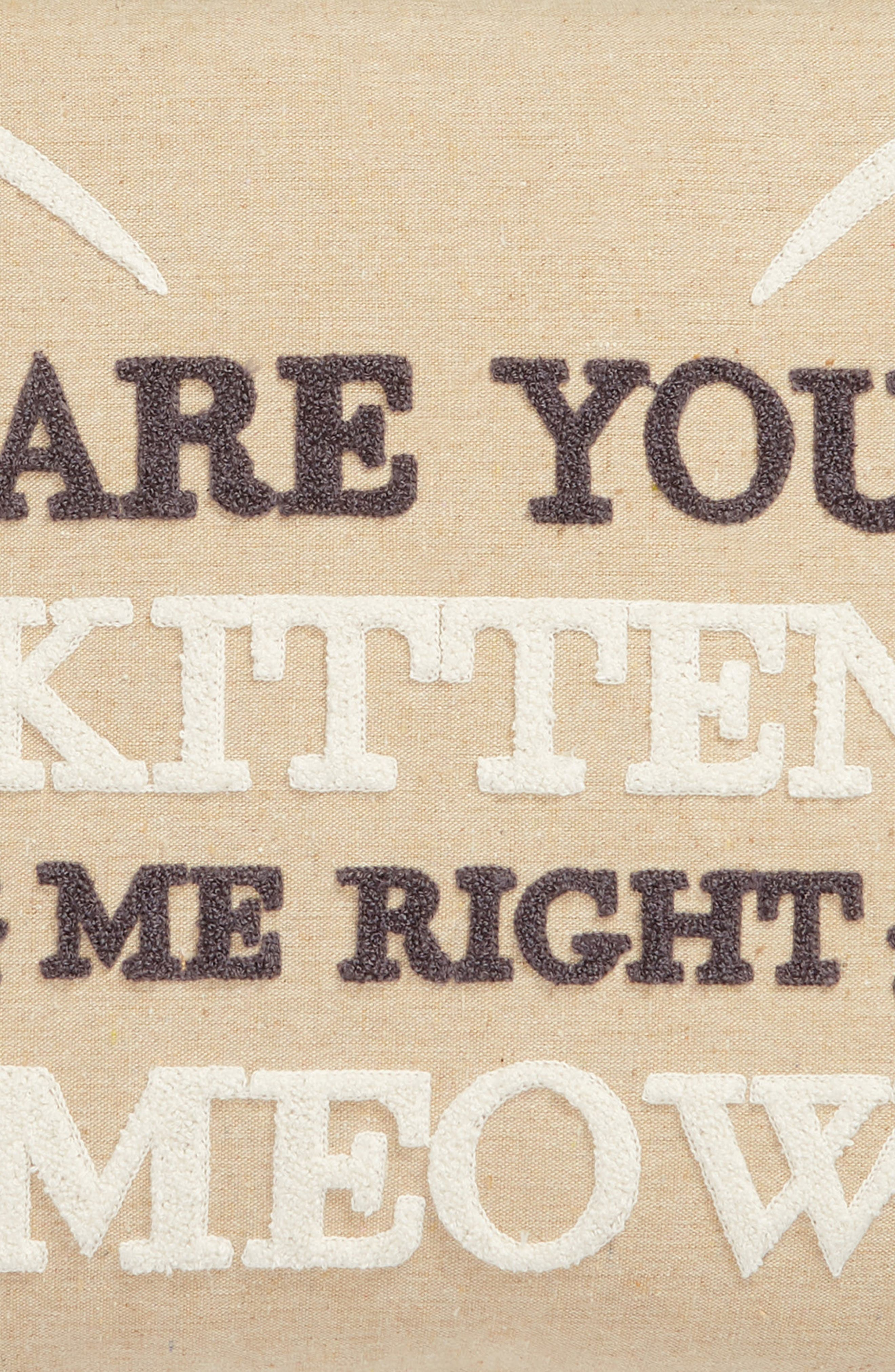 ,                             Are You Kitten Me Right Meow Accent Pillow,                             Alternate thumbnail 3, color,                             TAUPE