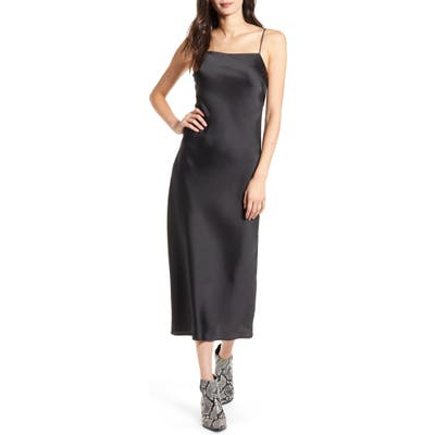 Topshop Satin Midi Slipdress, US (fits like 10-12) - Black