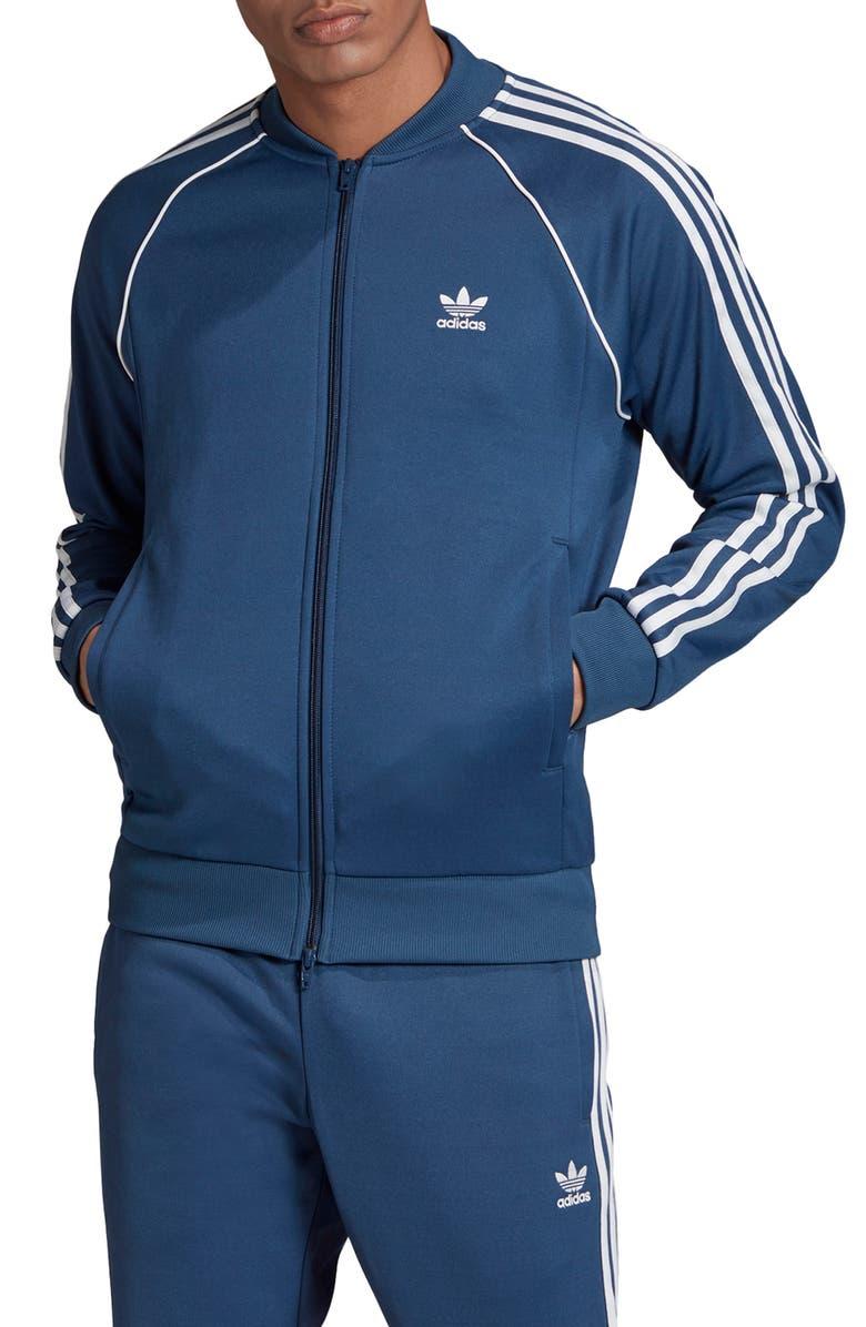 ADIDAS Originals Superstar Track Jacket, Main, color, NIGHT MARINE