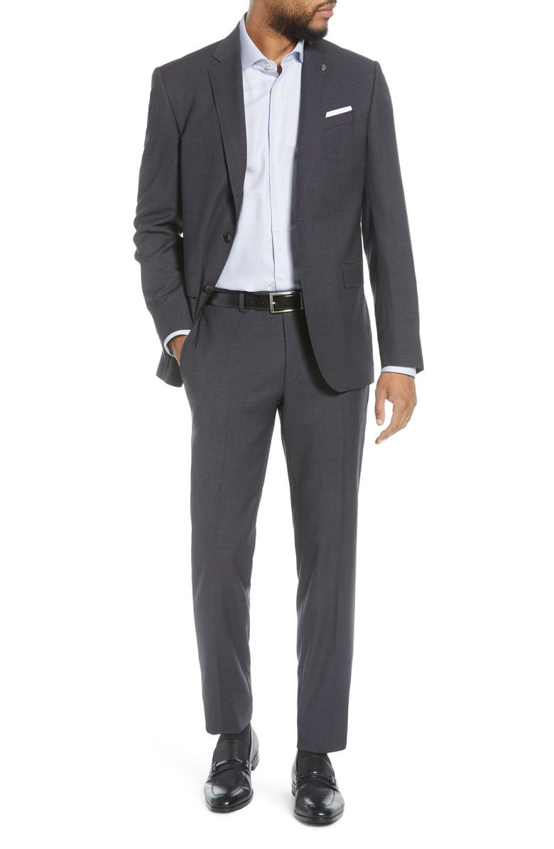 TED BAKER LONDON Jay Solid Wool Suit, Main, color, GREY