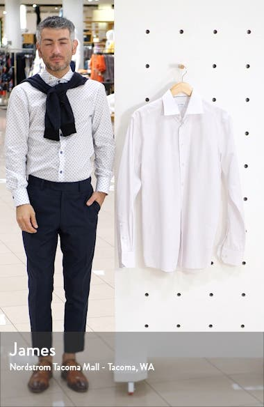 Contemporary Fit Micro Print Shirt, sales video thumbnail