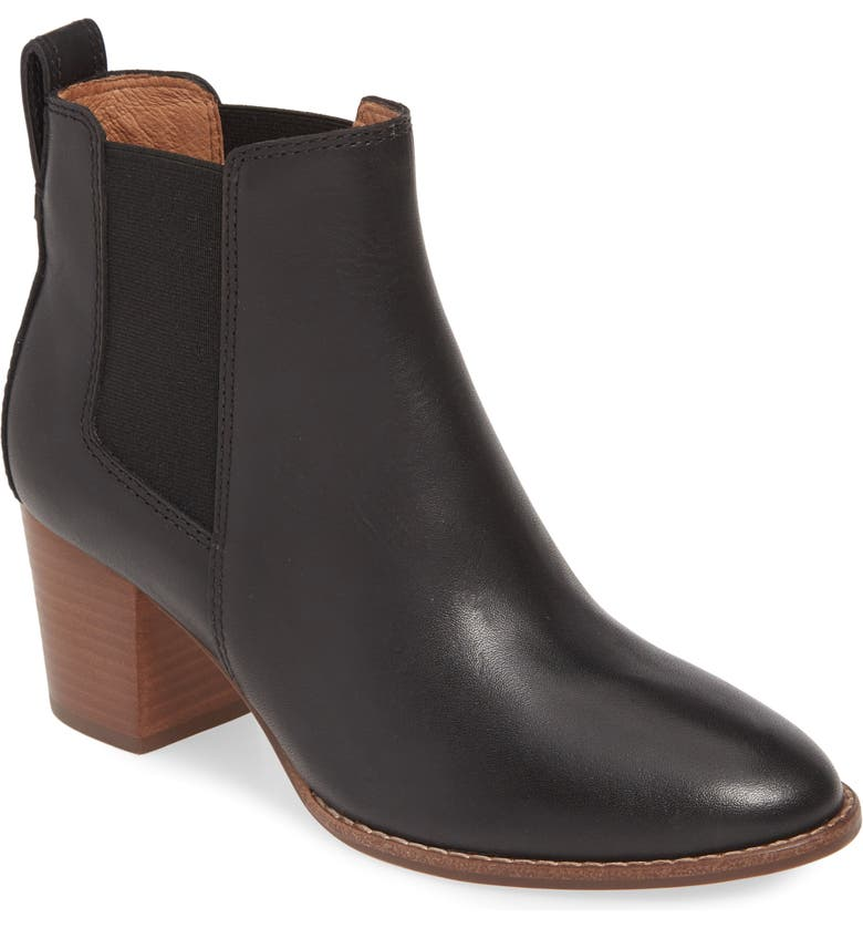 MADEWELL The Regan Boot, Main, color, TRUE BLACK LEATHER