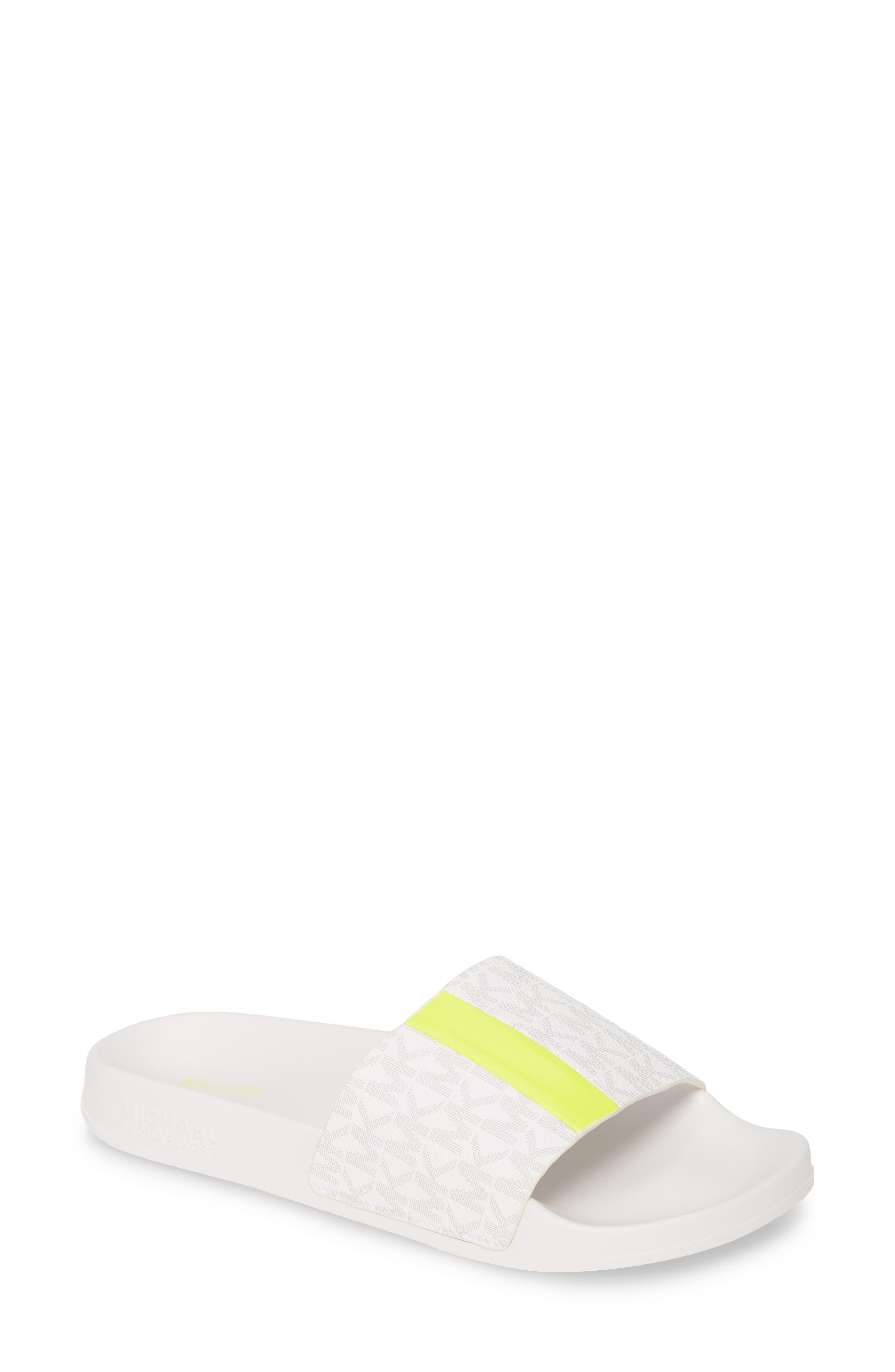 Michael Michael Kors Ayla Sport Slide, White