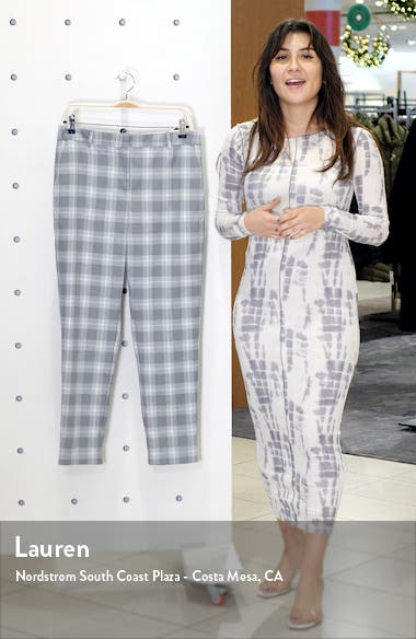 Flat Front Shadow Plaid Trousers, sales video thumbnail