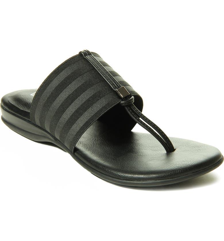 VANELI Yesen Slide Sandal, Main, color, BLACK FABRIC