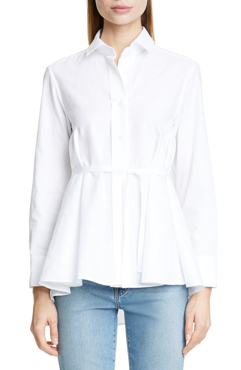 PALMER/HARDING Pointed Shirt, Main, color, WHITE PIQUE