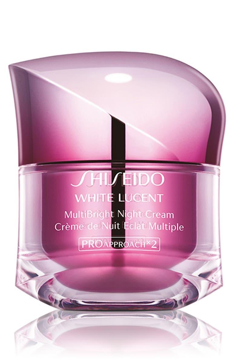SHISEIDO White Lucent MultiBright Night Cream, Main, color, NO COLOR