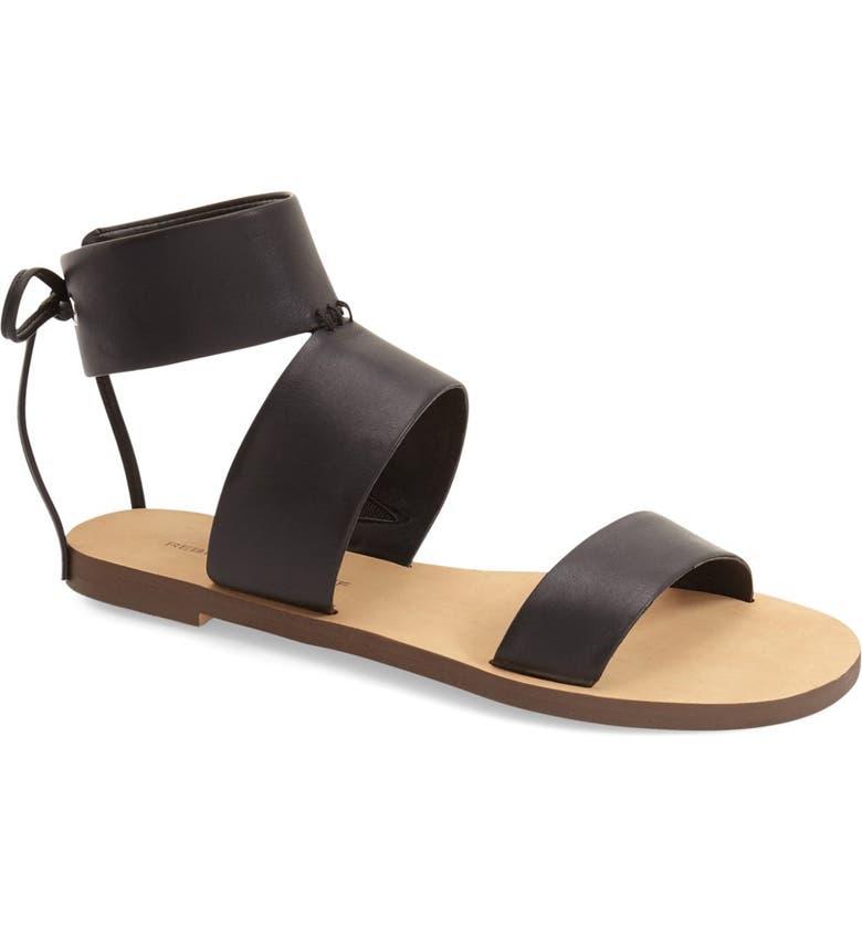 REBECCA MINKOFF 'Emma' Ankle Cuff Sandal, Main, color, 001