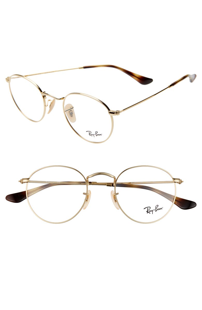 Ray Bay 47mm Round Optical Glasses