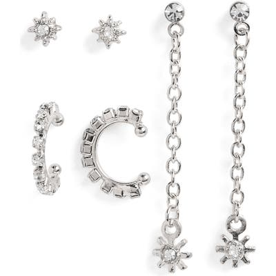 Bp. X Claudia Sulewski 3-Pack Crystal Star Earrings