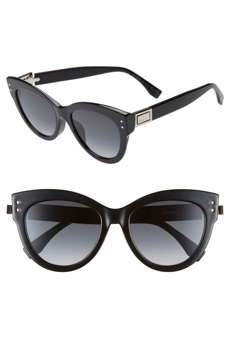 54mm Special Fit Gradient Cat Eye Sunglasses by Fendi