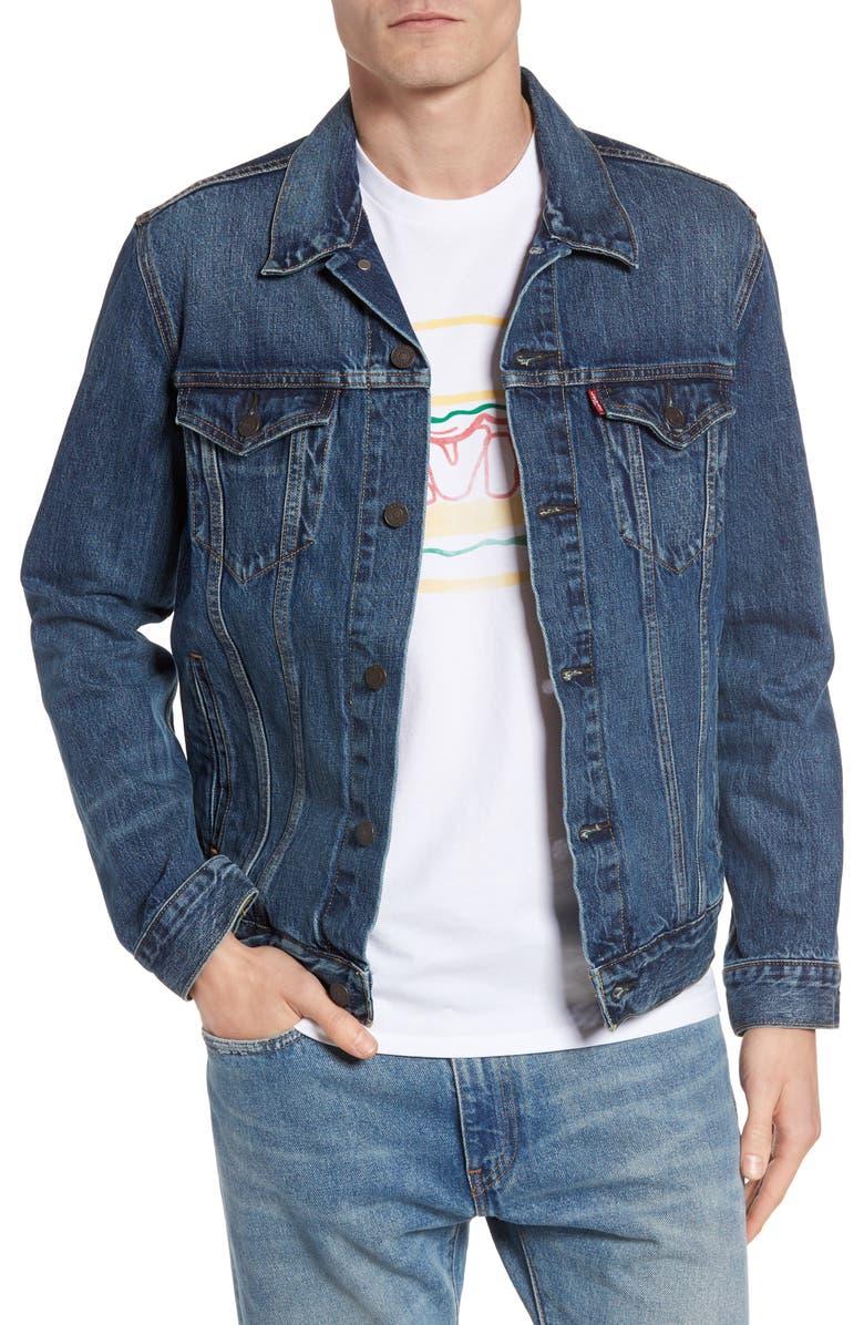 LEVI'S<SUP>®</SUP> Trucker Denim Jacket, Main, color, 400