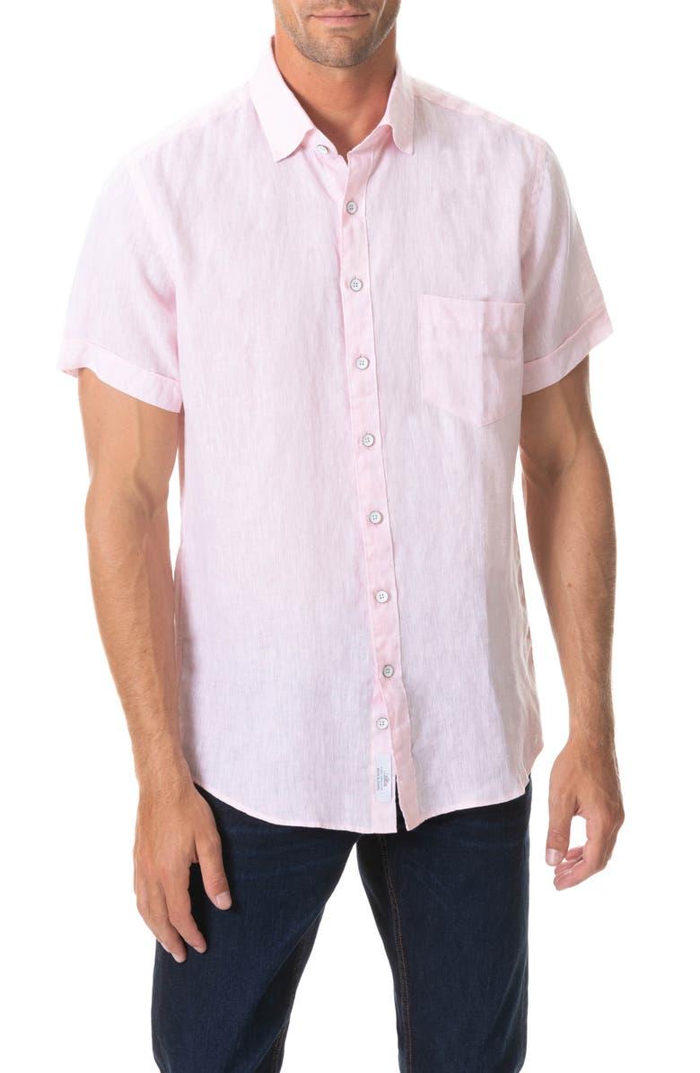 RODD & GUNN Regular Fit Ellerslie Linen Shirt, Main, color, LOTUS