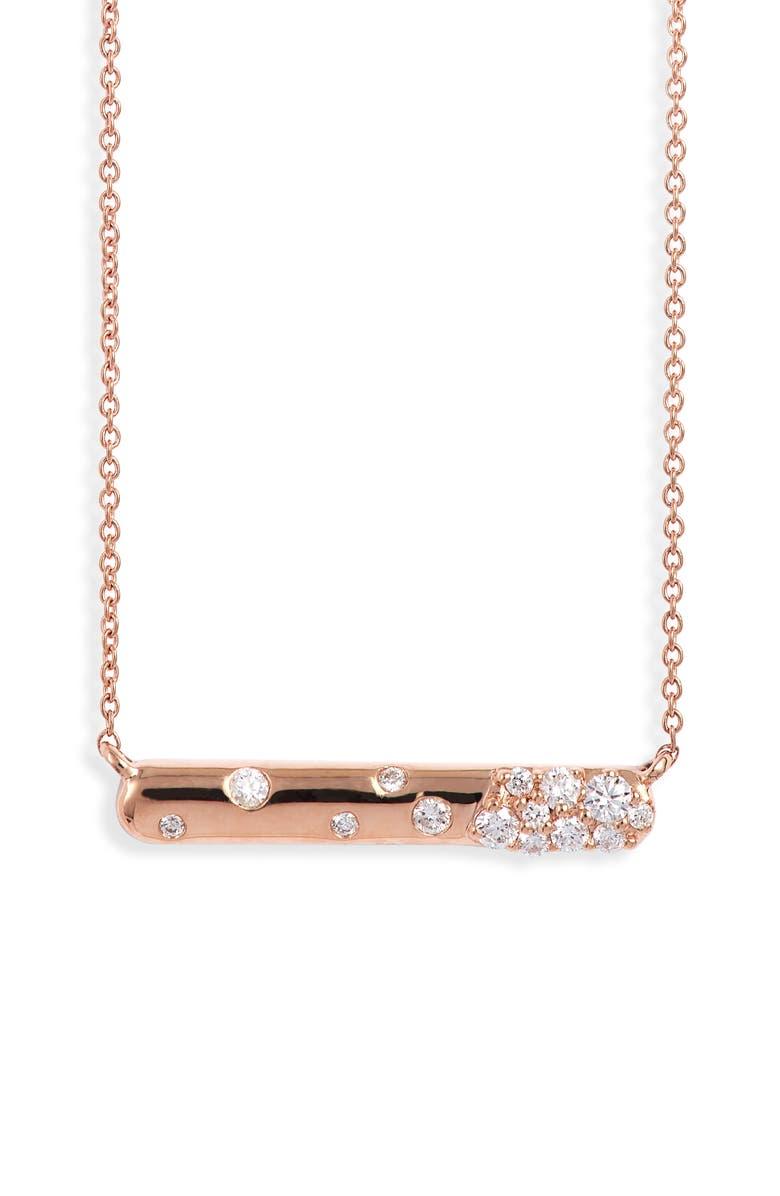DANA REBECCA DESIGNS Cynthia Rose Pavé Teardrop Pendant Necklace, Main, color, ROSE GOLD