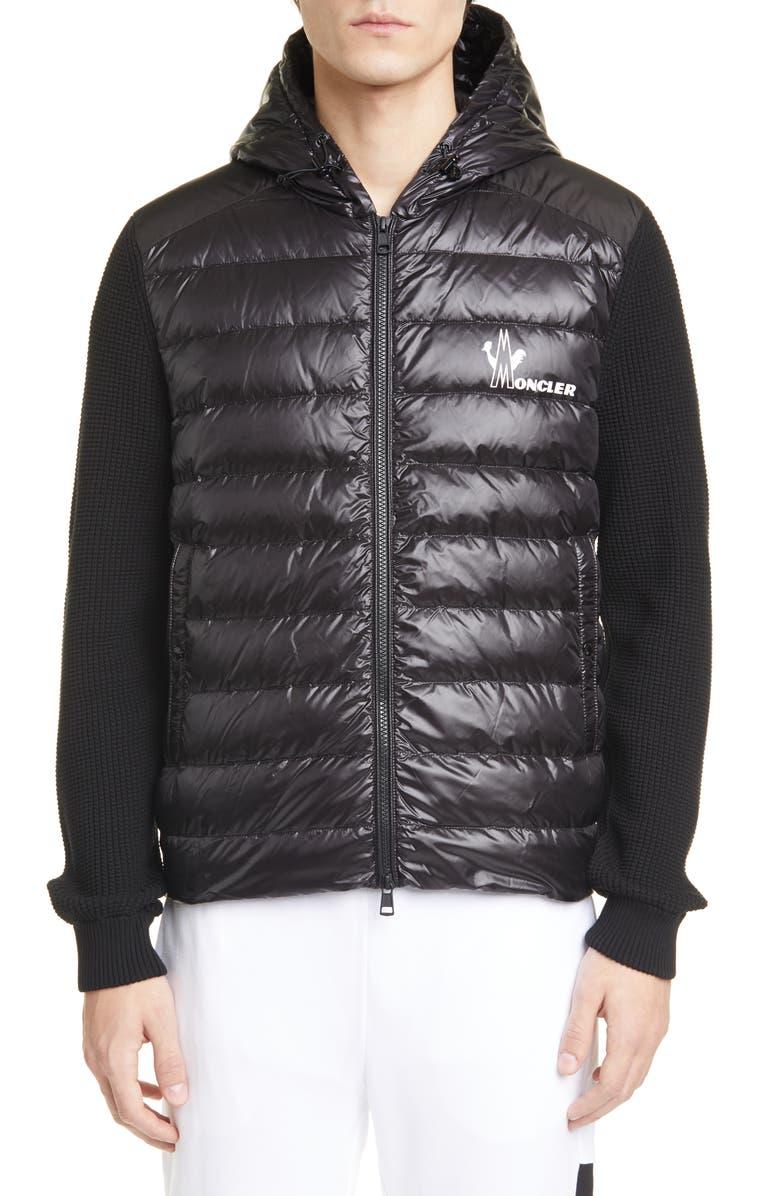 MONCLER Quilted Jacket, Main, color, BLACK