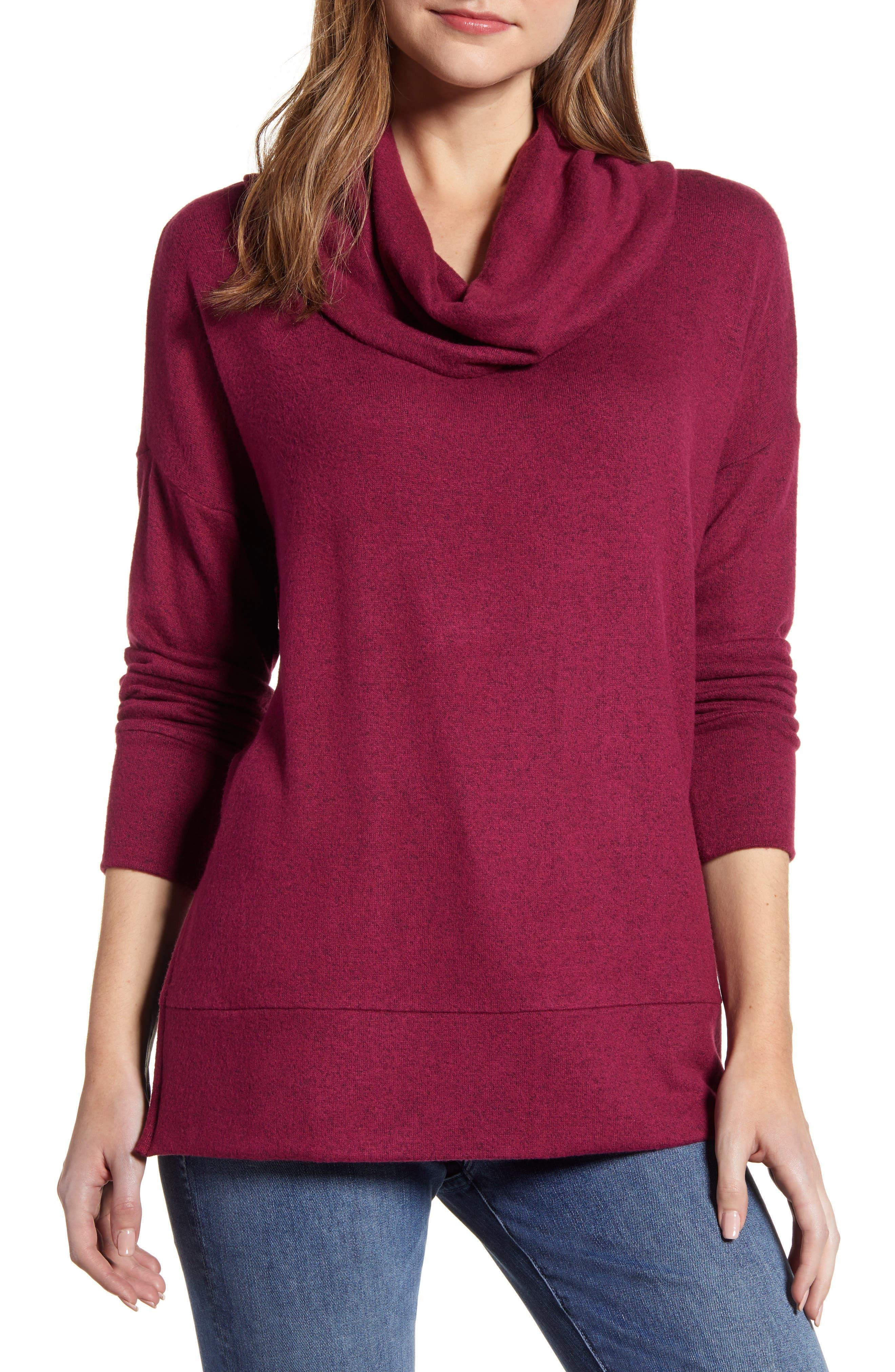 Women's Loveapella Cowl Neck Long Sleeve Top