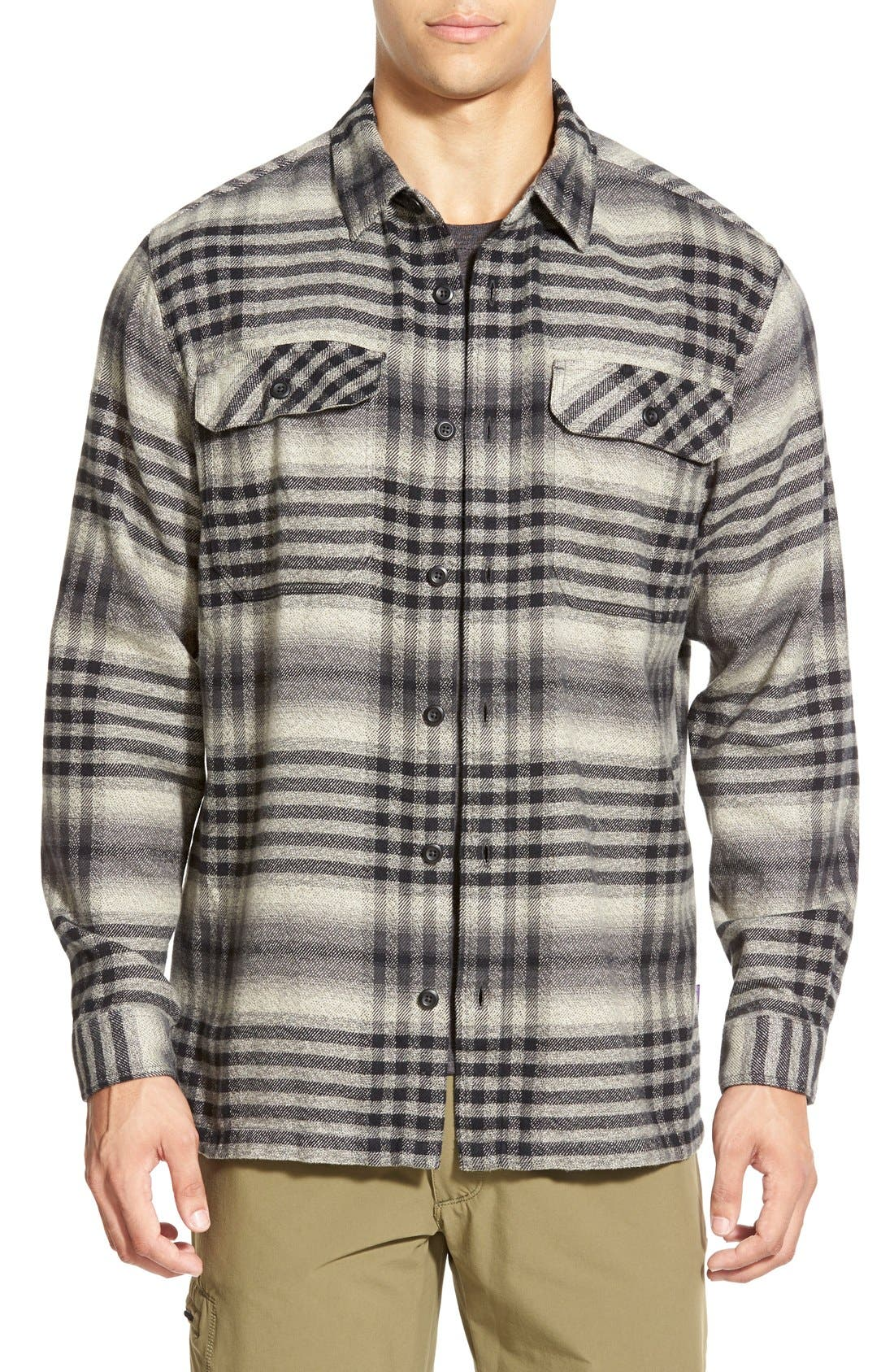 ,                             'Fjord' Regular Fit Organic Cotton Flannel Shirt,                             Main thumbnail 55, color,                             002