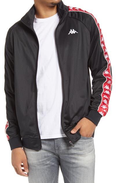 Kappa 222 Banda Anniston Track Jacket In Black/ Racing Red