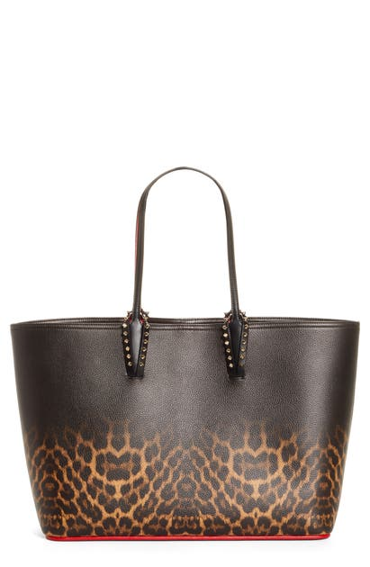 Christian Louboutin Totes CABATA LEOPARD DEGRADE LEATHER TOTE - BROWN (NORDSTROM EXCLUSIVE)