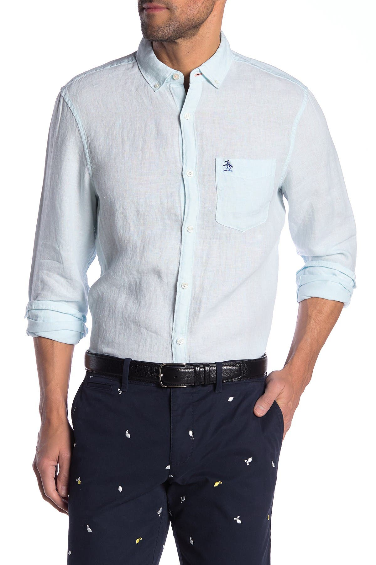 Image of Original Penguin Linen Slim Fit Shirt