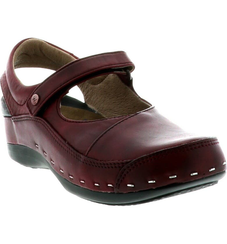 WOLKY Ankle Strap Clog, Main, color, OXBLOOD LEATHER