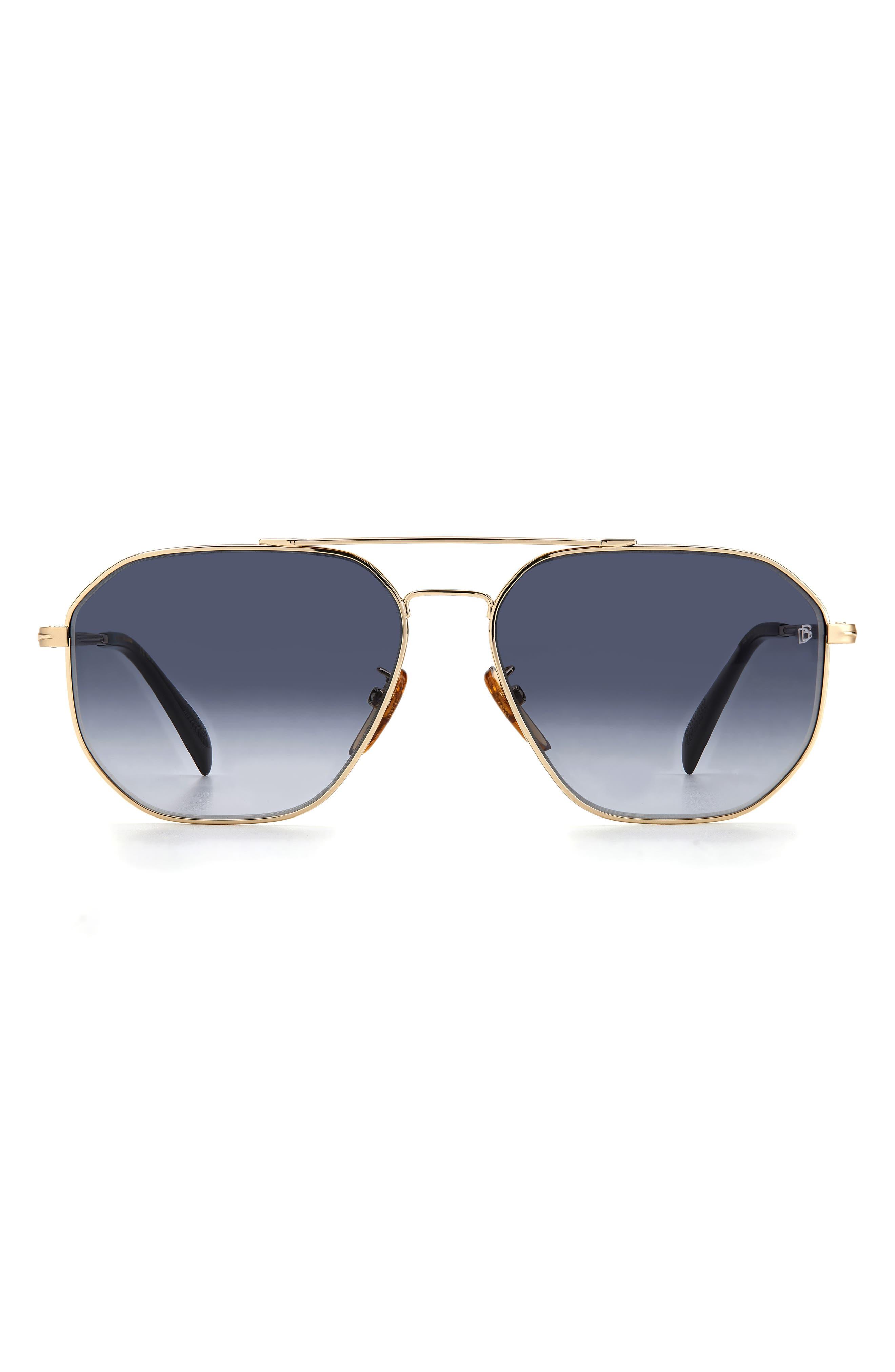 Men's David Beckham 60mm Aviator Sunglasses