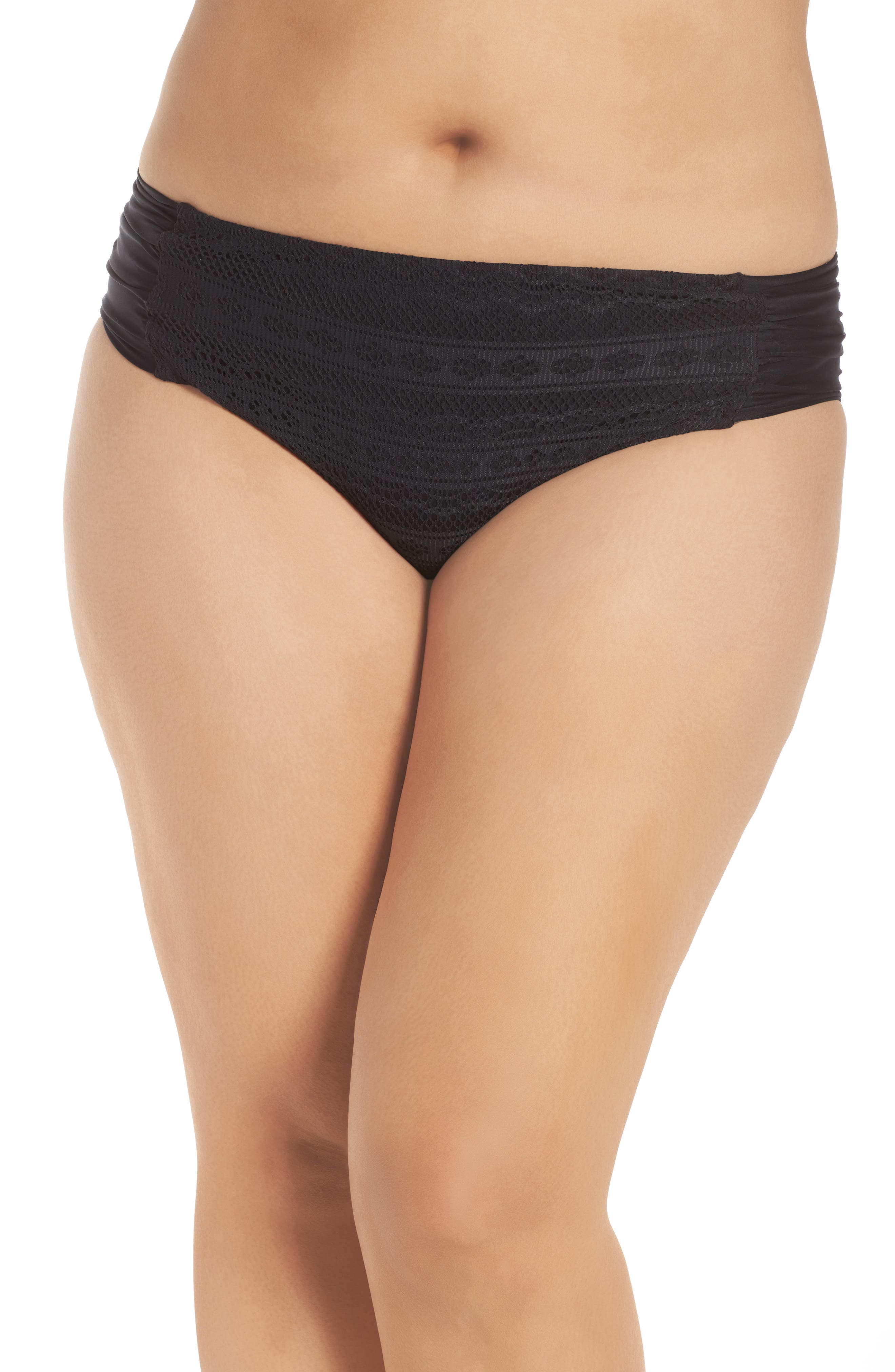 Plus Size Becca Etc. Color Play Bikini Bottoms, Black