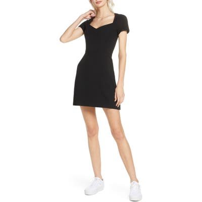 French Connection Whisper A-Line Dress, Black