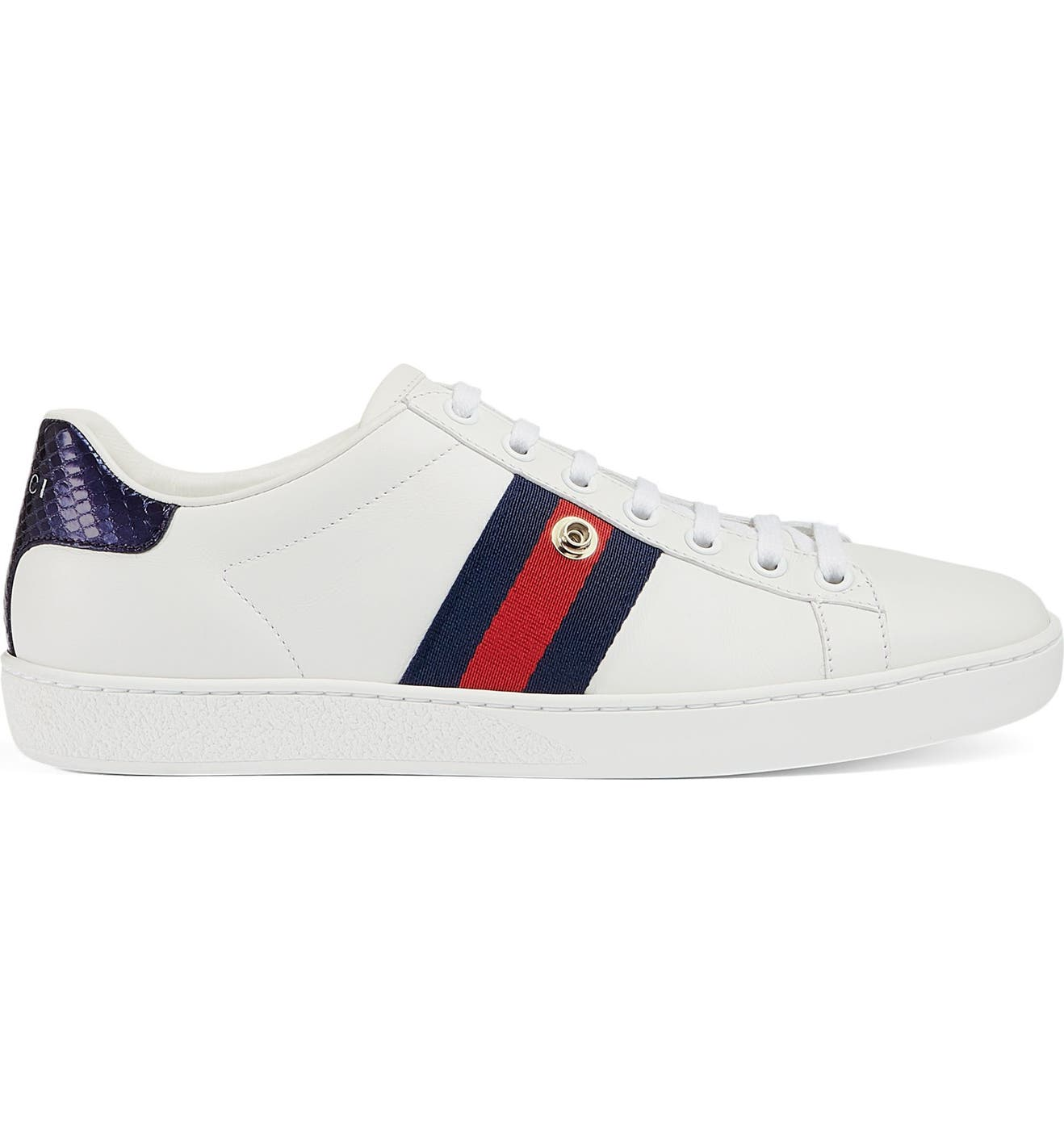c8a15b999 Gucci New Ace Pineapple Embroidered Patch Low Top Sneaker (Women)    Nordstrom