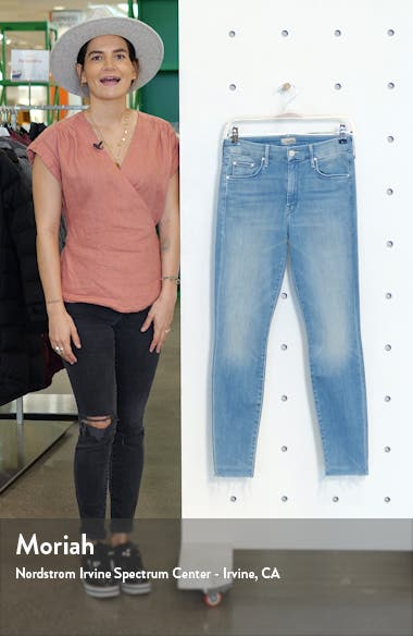 The Looker Fray High Waist Ankle Skinny Jeans, sales video thumbnail