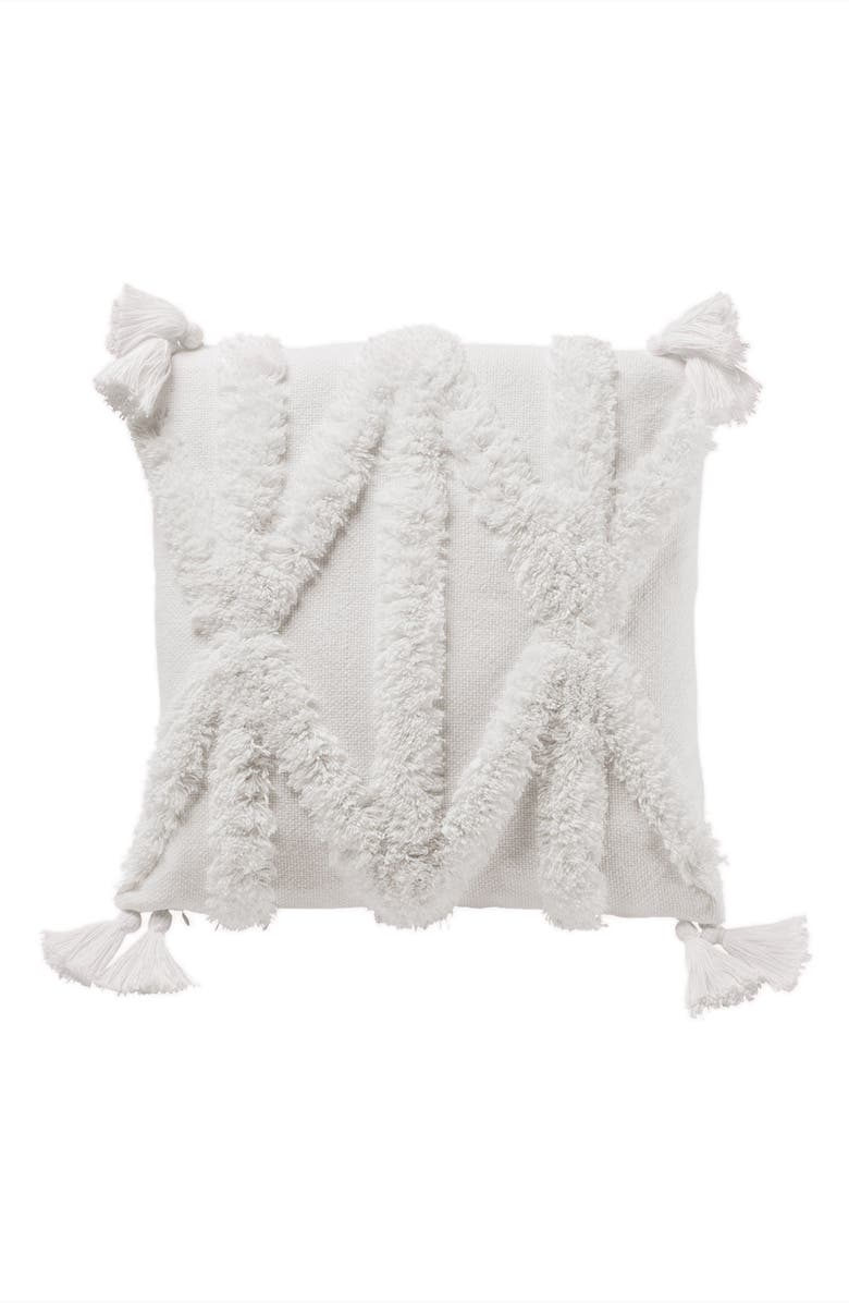 PENDLETON Rio Canyon Tufted Accent Pillow, Main, color, WHITE