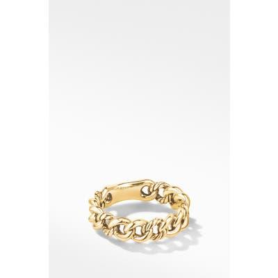 David Yurman Belmont Curb Link Narrow Ring In 18K Gold