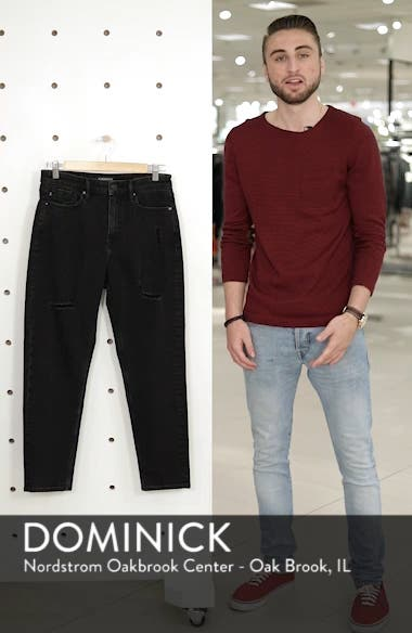 High Waist Crop Mom Jeans, sales video thumbnail
