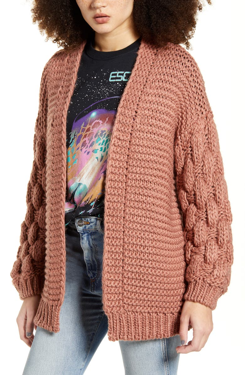 DREAMERS BY DEBUT Chunky Knit Cardigan, Main, color, 500
