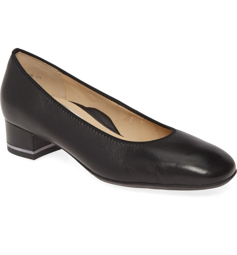 ARA Gabrielle Pump, Main, color, BLACK NAPPA LEATHER