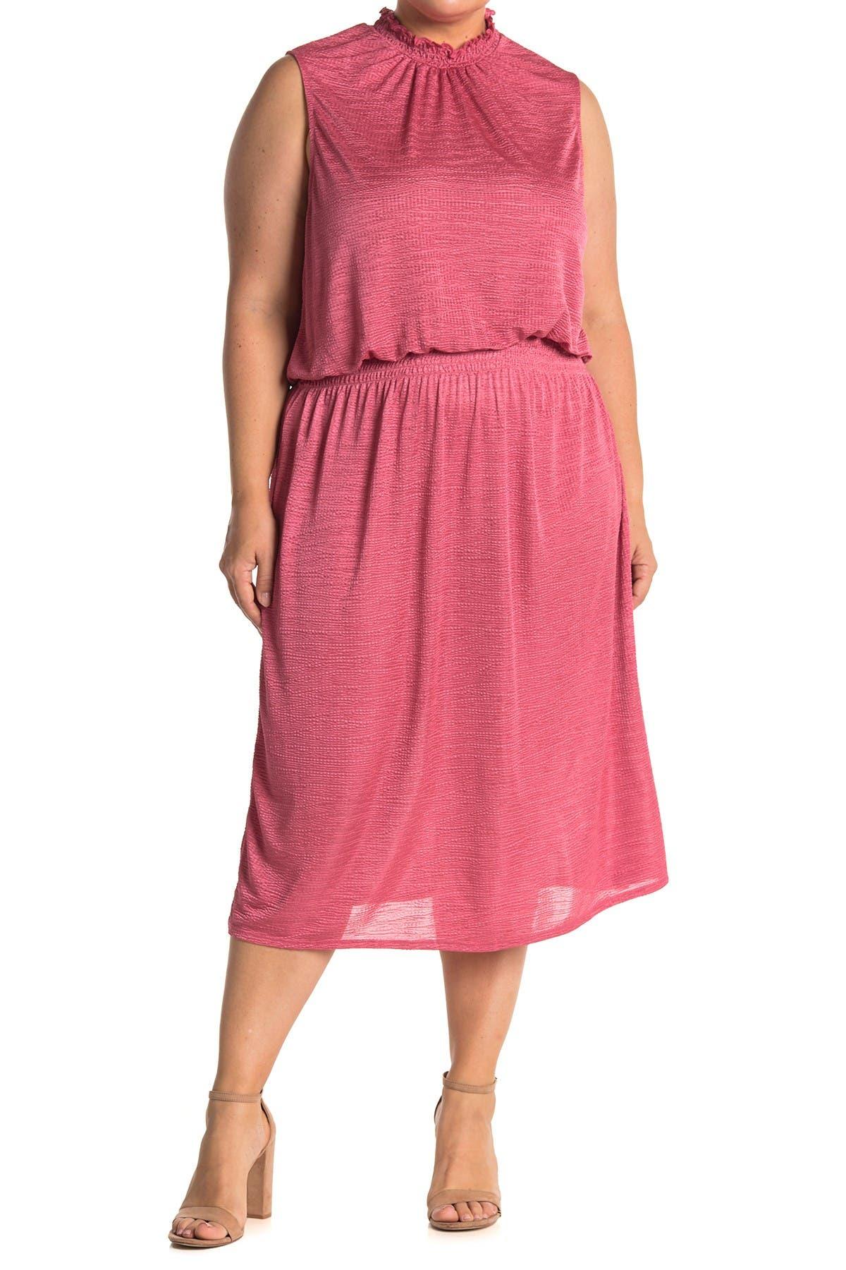 Image of Leota Samantha Smocked Sleeveless Midi Dress