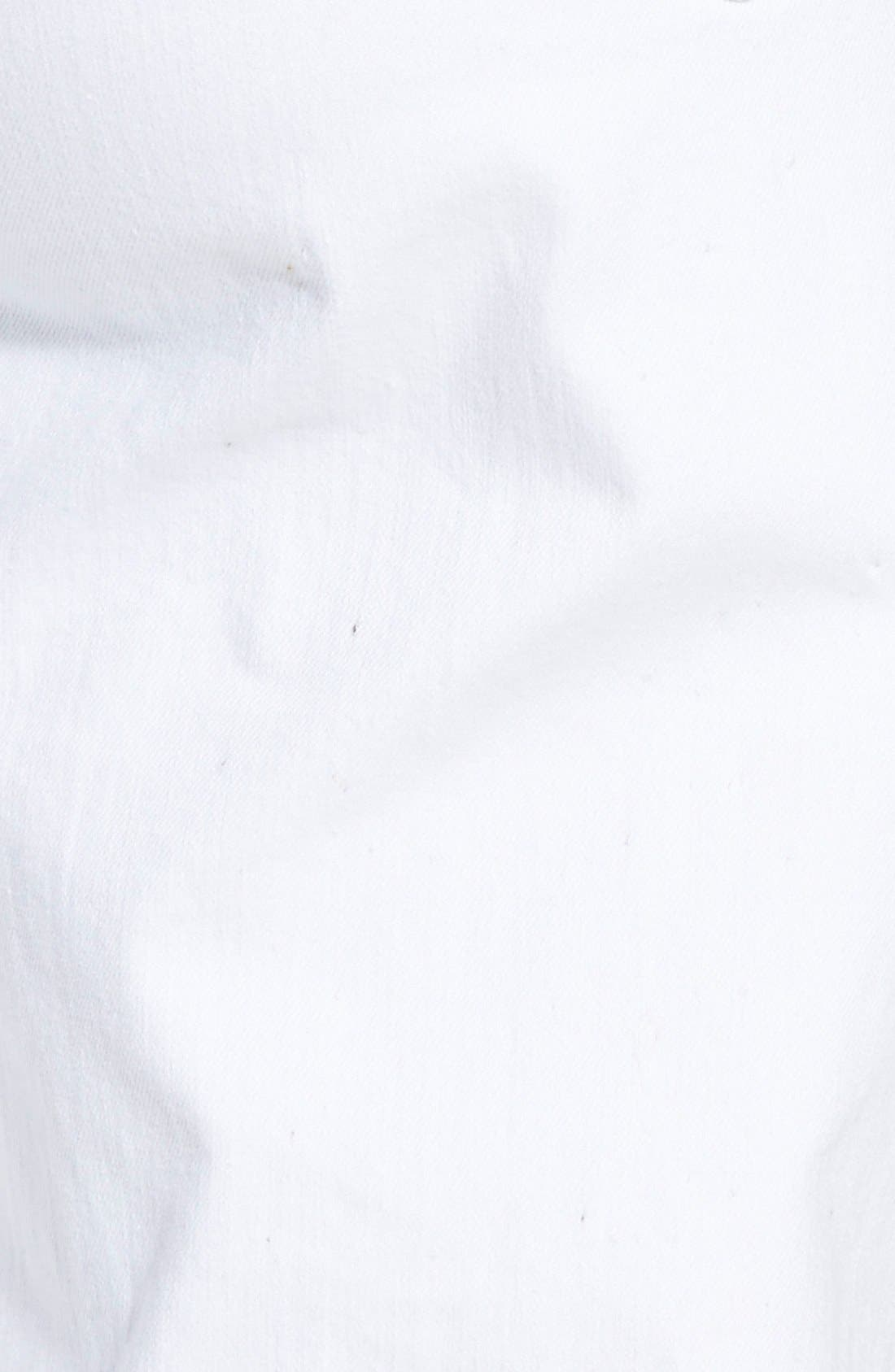 ,                             Stretch Organic Cotton Skinny Jeans,                             Alternate thumbnail 4, color,                             WHITE