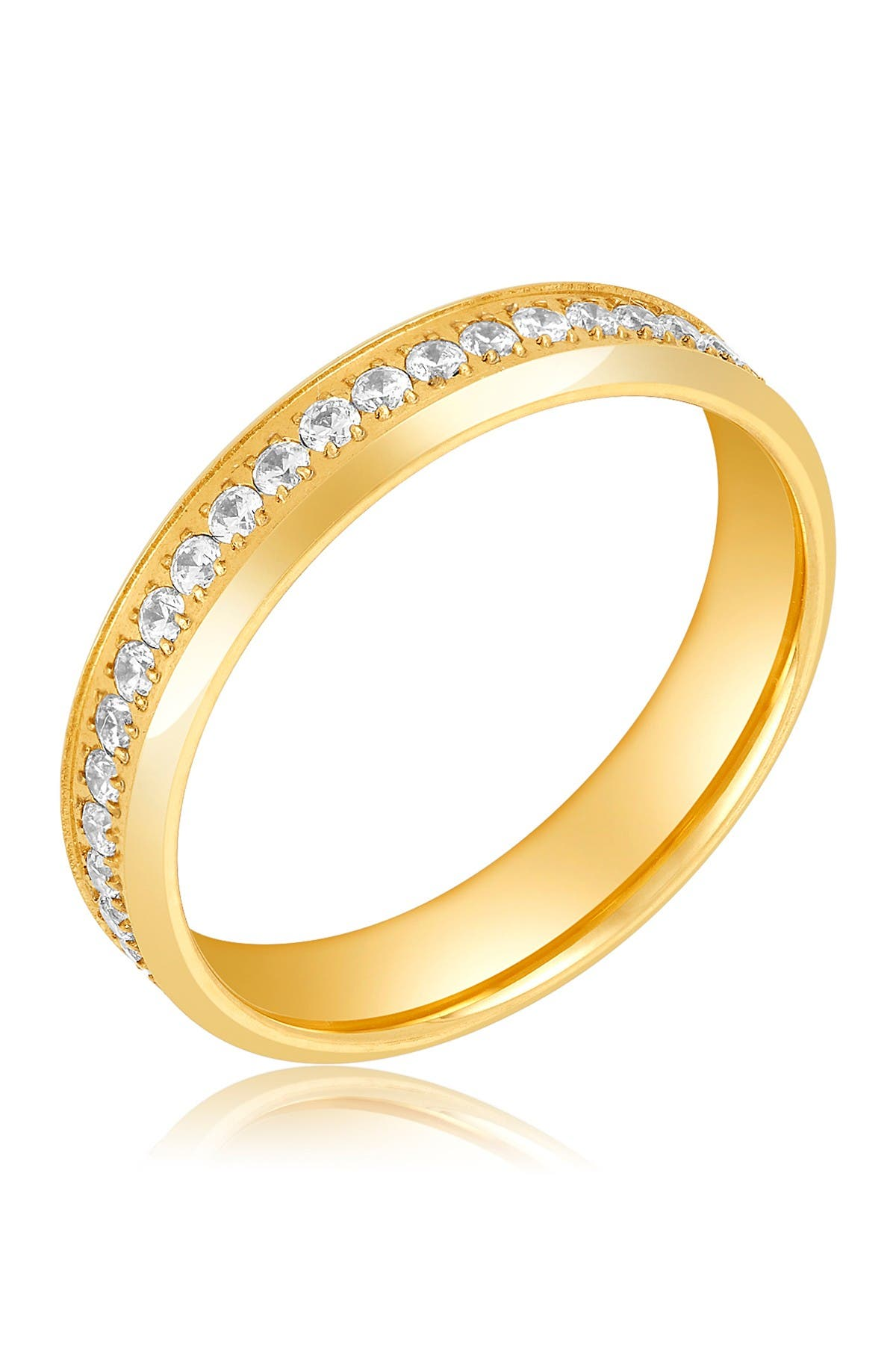 ADORNIA 14K Yellow Gold Eternity Ring