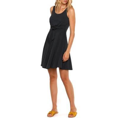 Heartloom Amber Tie Front Fit & Flare Dress, Black