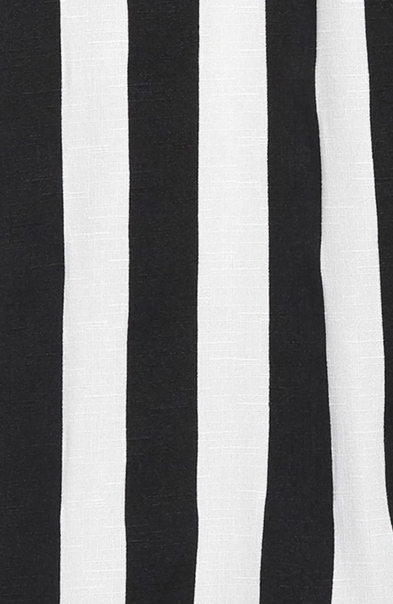 ,                             Mia Chic Vertical Stripe Pants,                             Alternate thumbnail 2, color,                             BLACK WHITE